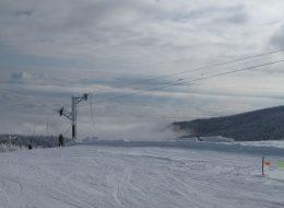 zima lyzovanie Martinky Martinské hole